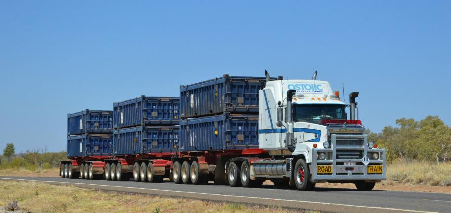 Heavy haulage on the highway
